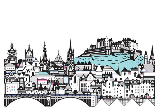 Edinburgh Skyline Digital Art Print