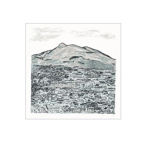 Arthurs Seat Hand Pulled Screen Print