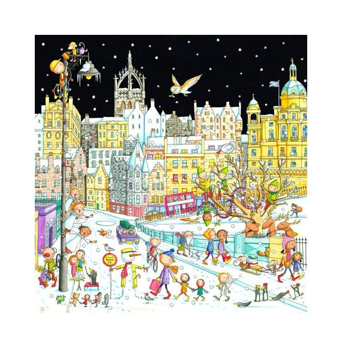 A View Of The Old Town From Waverley Bridge Christmas Card Pack