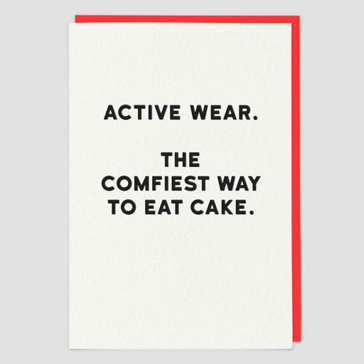 Active Wear Blank Card