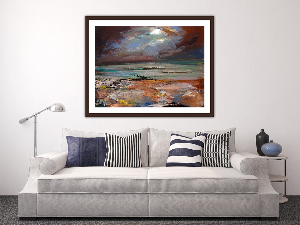 Small At The Beach Art Print
