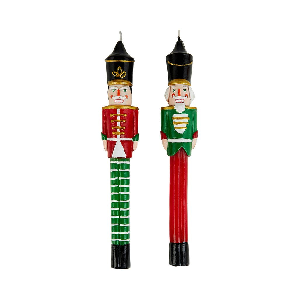A Pair Of Nutcracker Candles