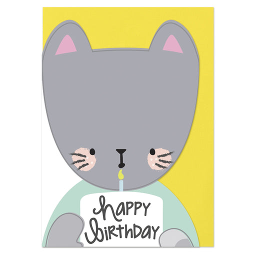 Laser Cut Cat Birthday Card