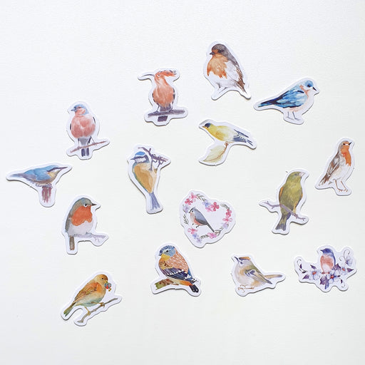 Kawaii Birds Sticker Set
