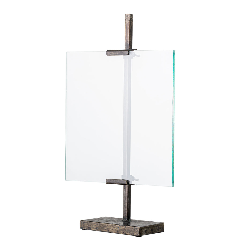 Iron & Glass Free Standing Easel Frame