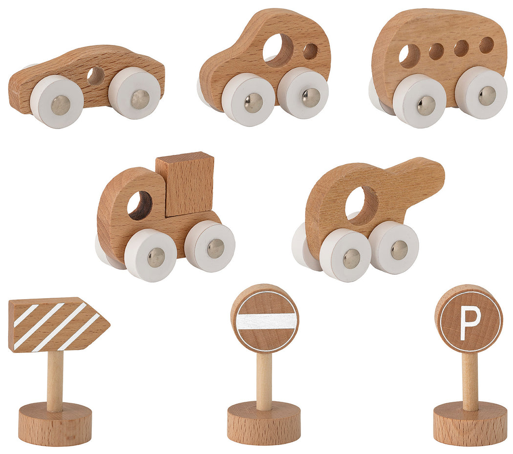Mini Wooden Car Set Toy