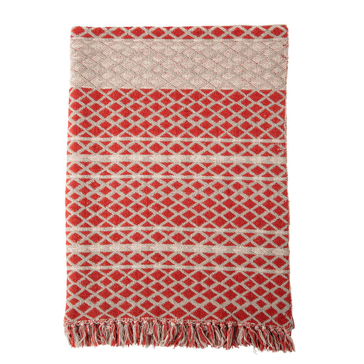 Red Verona Recycled Cotton Throw