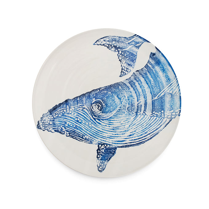 Large Earthenware Whale Platter