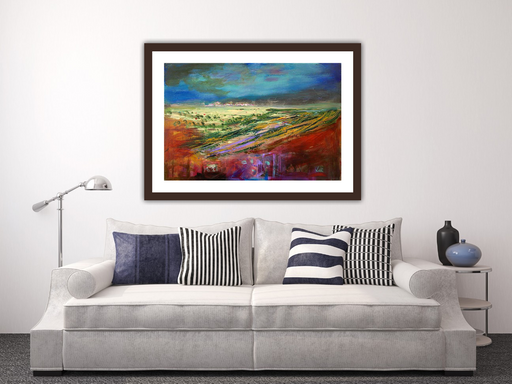 Large Blushing Heather Art Print