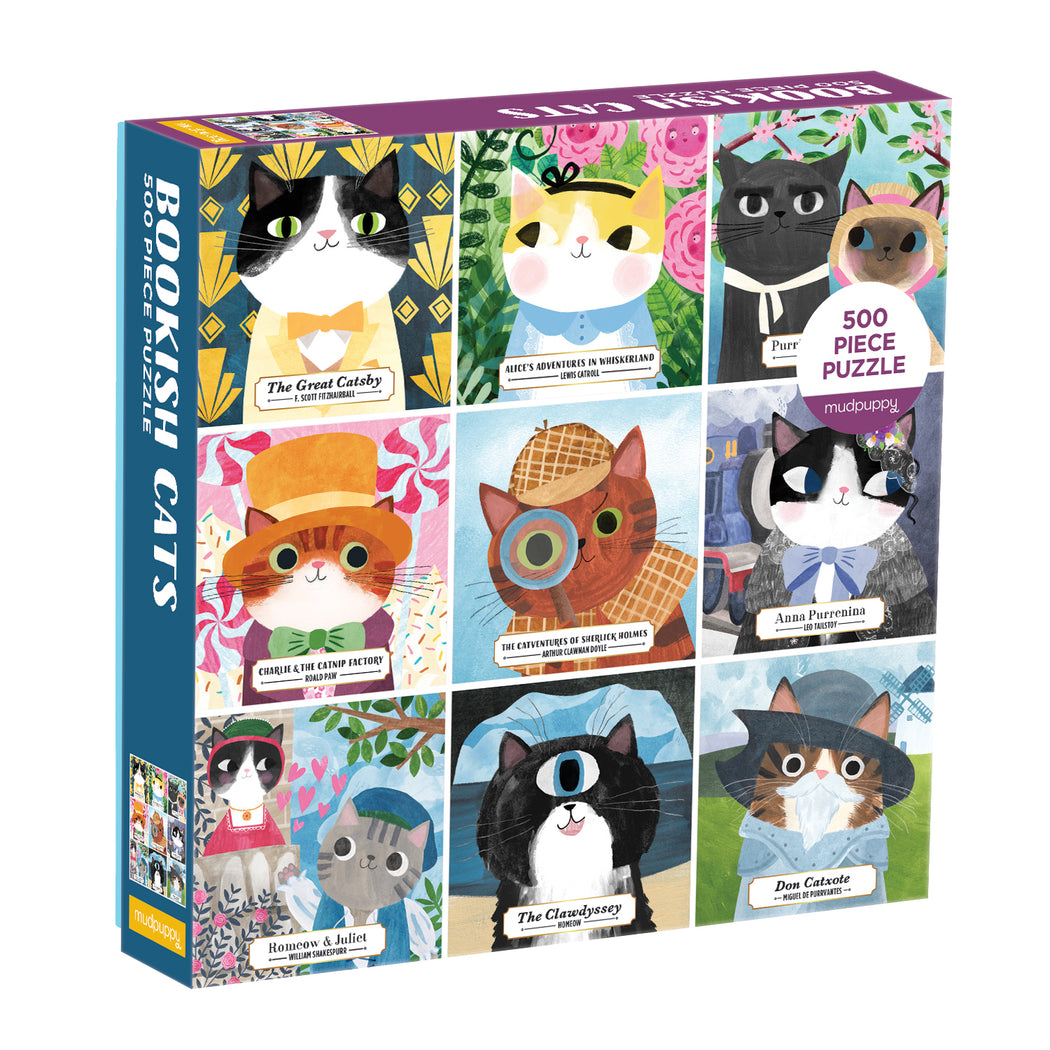 Bookish Cats - 500 Piece Jigsaw Puzzle