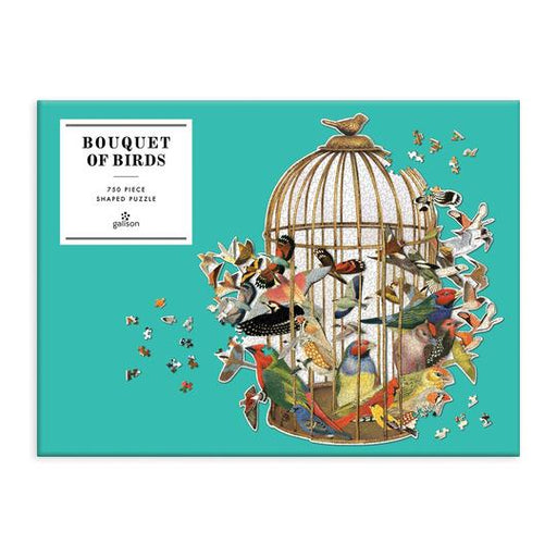 Bouquet Of Birds Shaped Jigsaw Puzzle