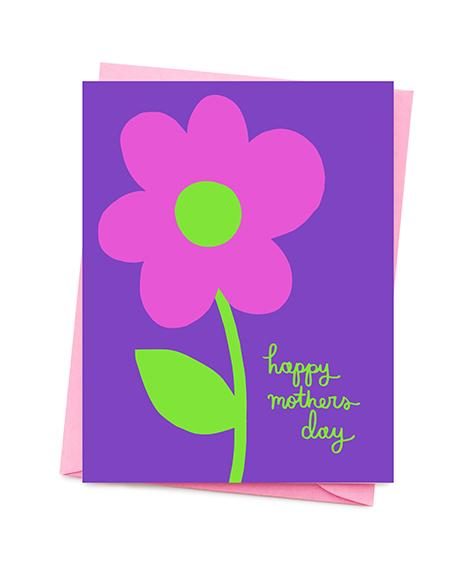 Bright Flower Mother's Day Card