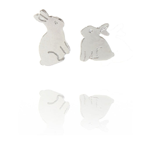 Tiny Sterling Silver Bunny Rabbit Stud Earrings