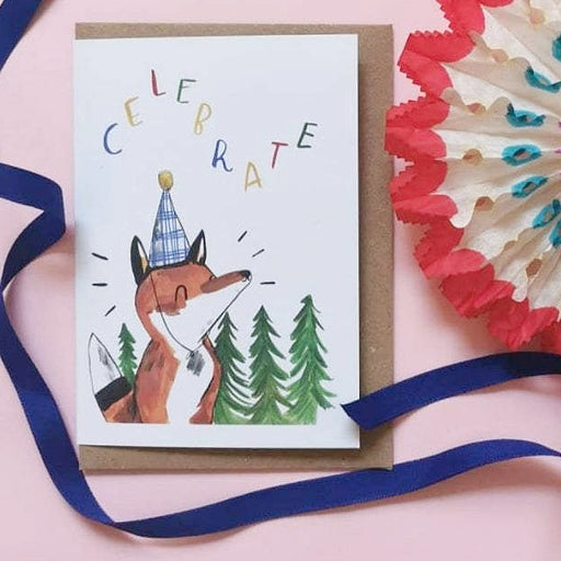 Celebrate - Fox In A Hat Birthday Card