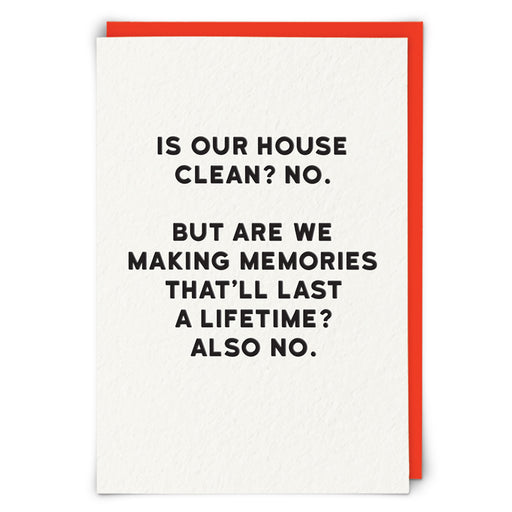 Is Our House Clean? Blank Card