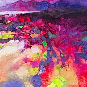 Colours of Arisaig Art Print