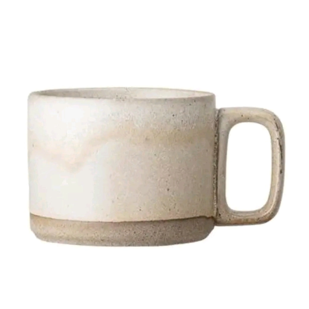 Deep Cream Dipped Columbine Mug