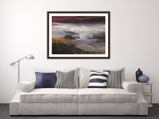 Large Crimson Night Art Print