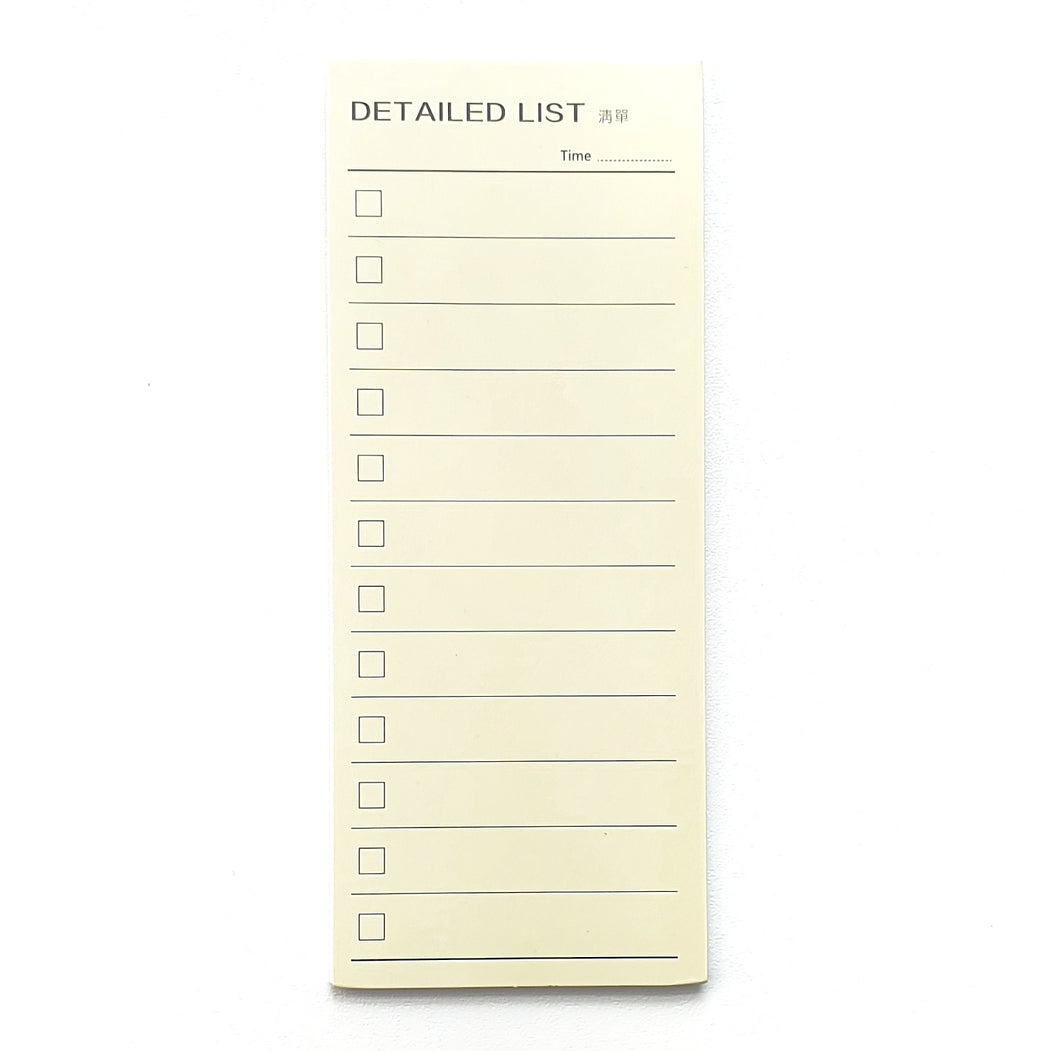 Detailed List Sticky Notes