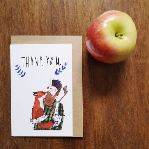 Fox & Lumberjack Thank You Card