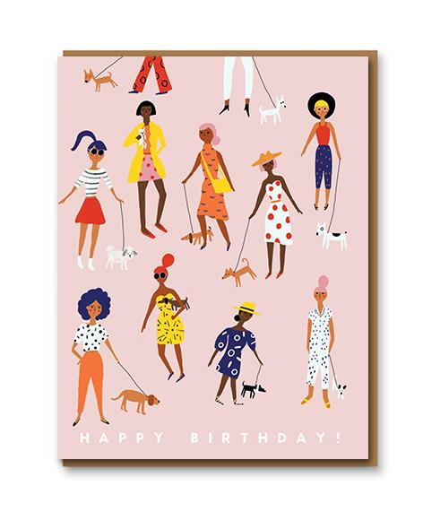 Dog Walkers Happy Birthday Card