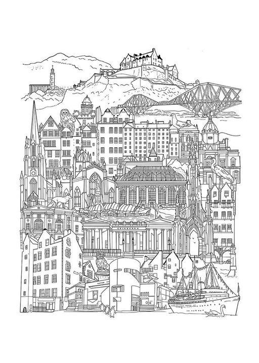 Edinburgh Drawing Art Print