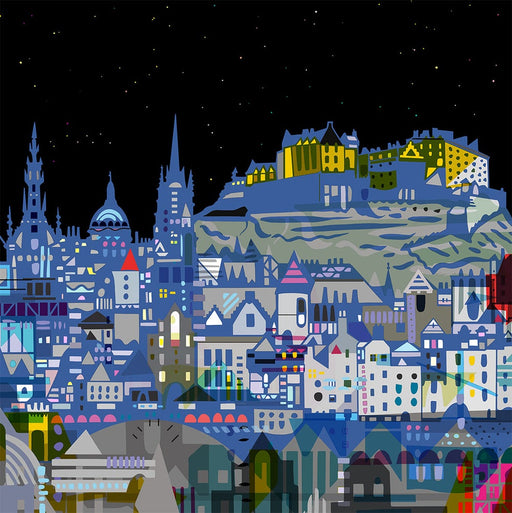 Edinburgh Nights Digital Art Print
