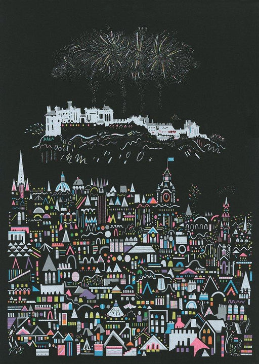 Fireworks screen print by Susie Wright