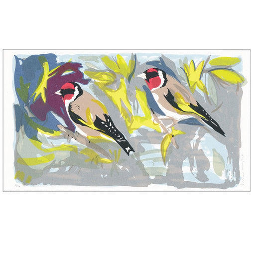 Goldfinches Hand Pulled Screen Print