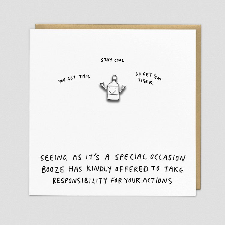 Seeing As It's A Special Occasion Enamel Pin Card