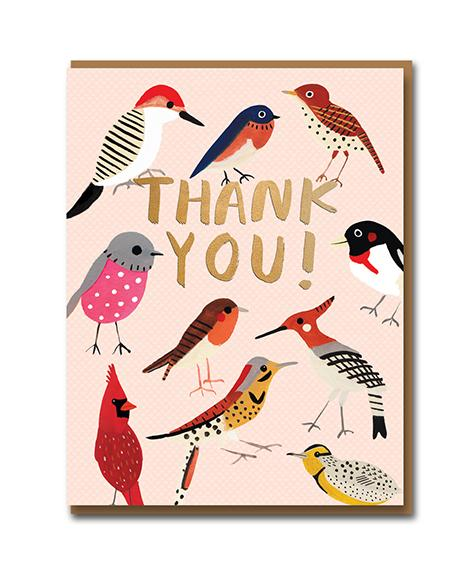 Garden Birds Thank You Card