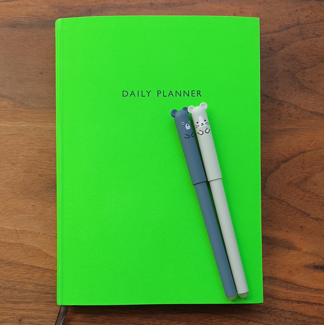 Green Daily Planner