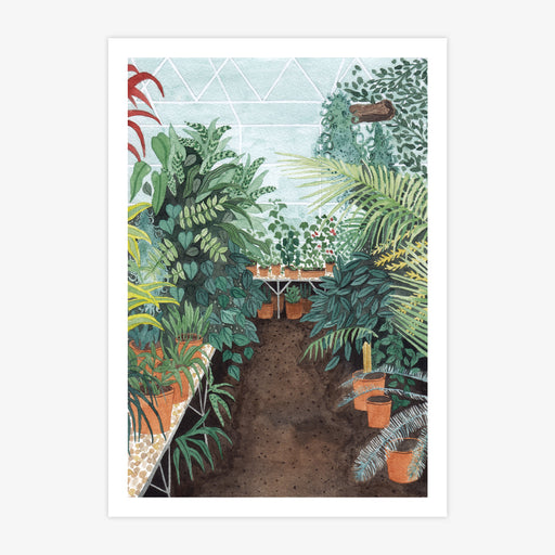 A4 Greenhouse Study Art Print