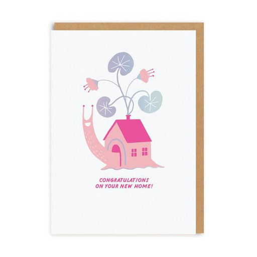 Neon Snail New Home Card