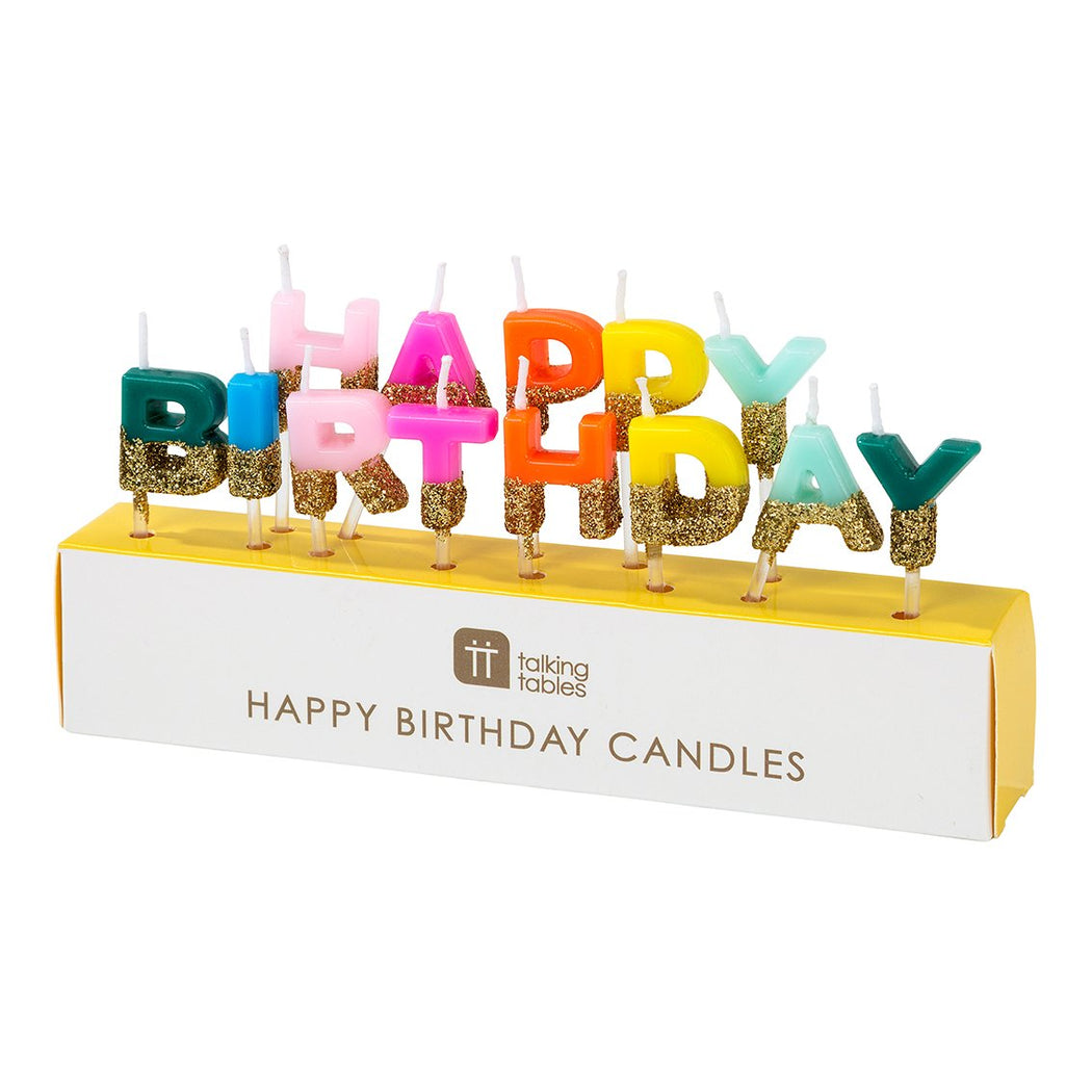 Happy Birthday Rainbow Cake Candles