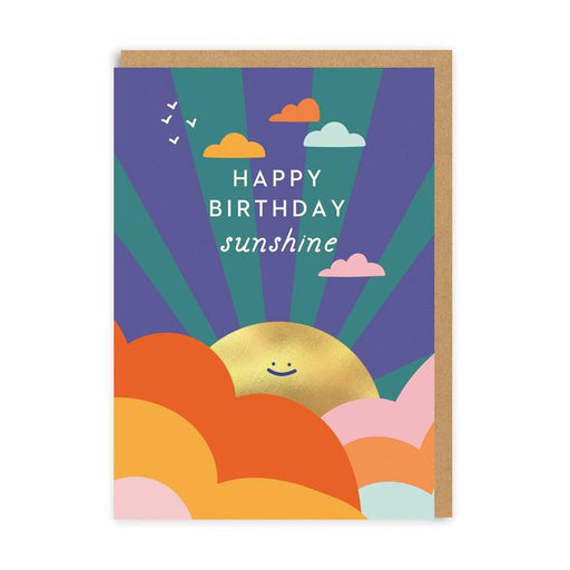 Happy Birthday Sunshine With Smiling Sun Card