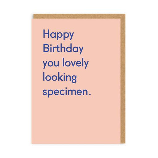 Happy Birthday You Lovely Looking Specimen Card