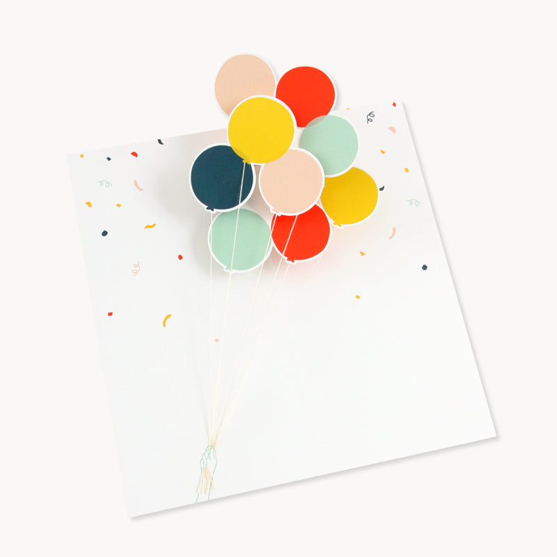 Pop Up Balloons Pop Up Congratulations Card