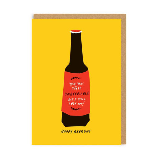 Hoppy Beerday Birthday Card