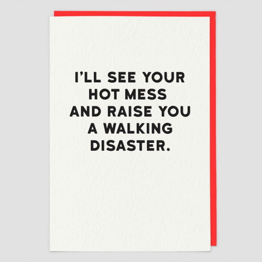 Hot Mess Blank Card