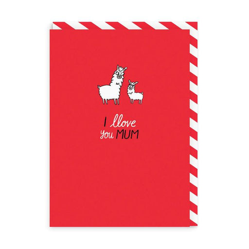 I Llove You Mum Mother's Day Pin Badge Card