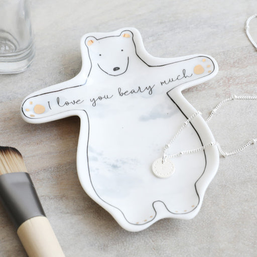 I Love You Beary Much Ceramic Trinket Dish