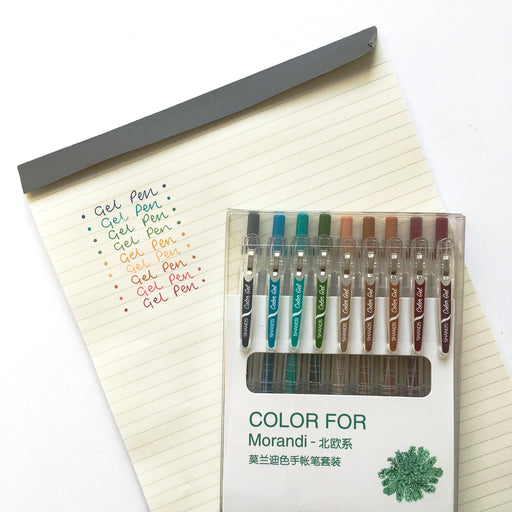 Set of 9 Dark Gel Pens
