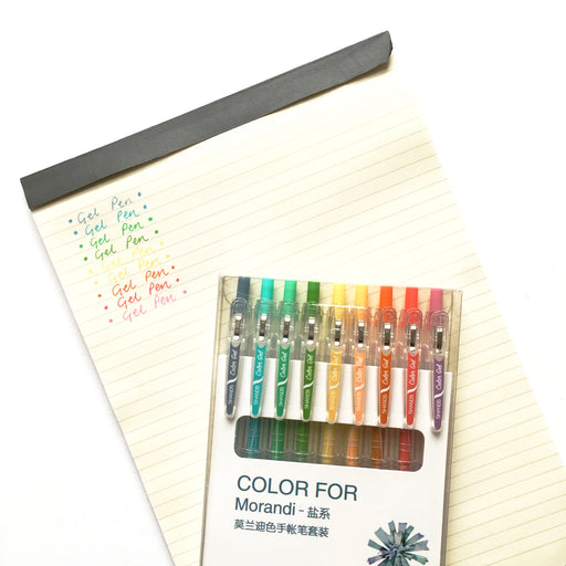 Set of 9 Bright Gel Pens
