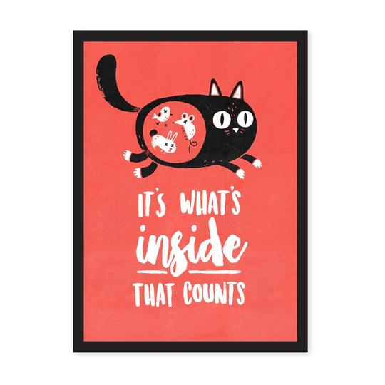 It's What's Inside That Counts Risograph Art Print