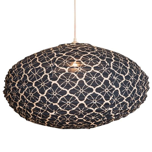 Large Indigo Lotus Lampshade