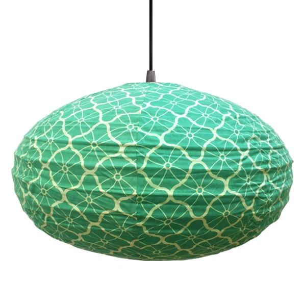Lotus in Green Lampshade - 60cm