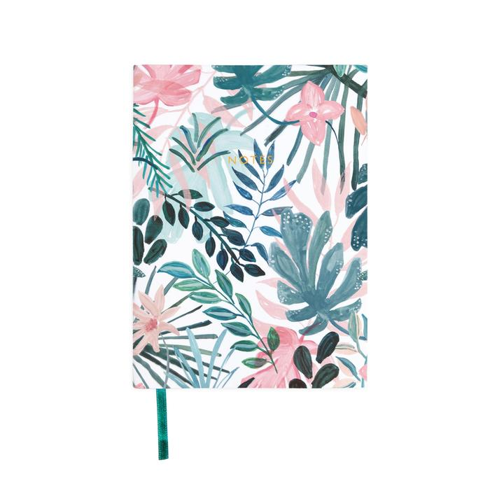 A6ish Linen Beach Botanicals  Notebook
