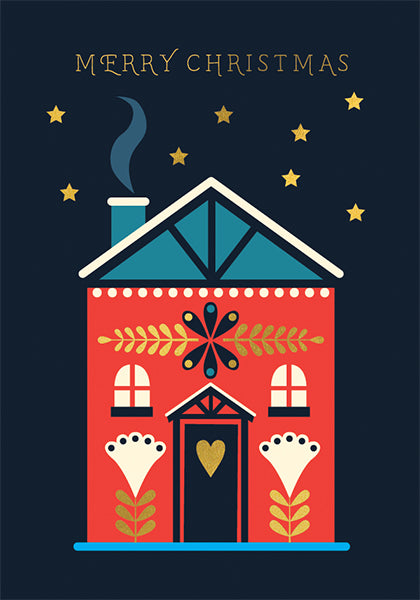 Merry Christmas House Christmas Card