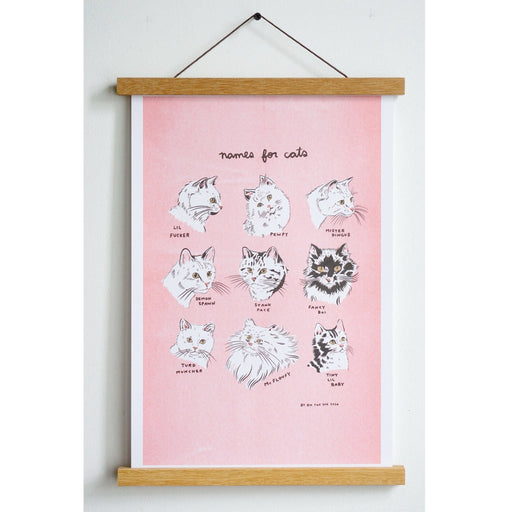 Names For Cats Print